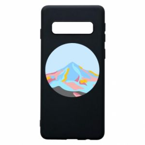 Phone case for Samsung S10 Mountains in a circle