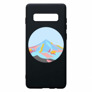 Phone case for Samsung S10+ Mountains in a circle