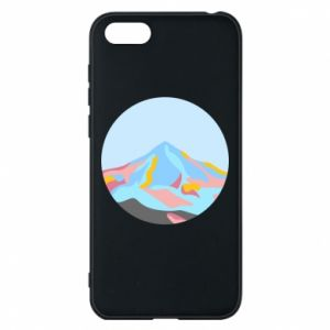 Phone case for Huawei Y5 2018 Mountains in a circle