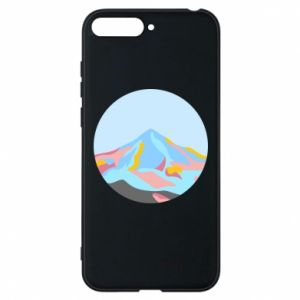 Phone case for Huawei Y6 2018 Mountains in a circle