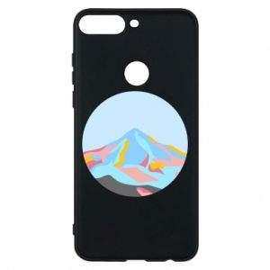 Phone case for Huawei Y7 Prime 2018 Mountains in a circle
