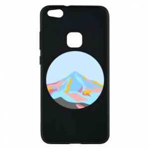 Phone case for Huawei P10 Lite Mountains in a circle