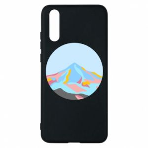 Phone case for Huawei P20 Mountains in a circle