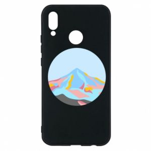 Phone case for Huawei P20 Lite Mountains in a circle