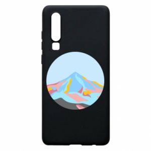 Phone case for Huawei P30 Mountains in a circle