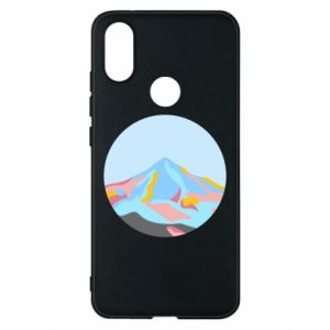 Phone case for Xiaomi Mi A2 Mountains in a circle