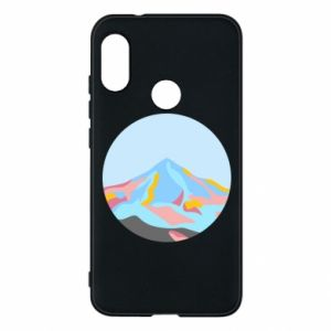 Phone case for Mi A2 Lite Mountains in a circle