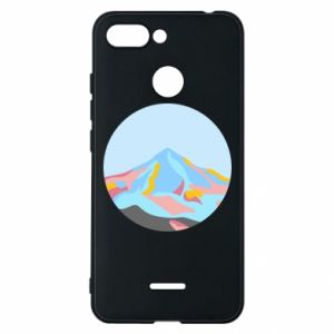 Phone case for Xiaomi Redmi 6 Mountains in a circle