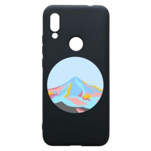 Phone case for Xiaomi Redmi 7 Mountains in a circle