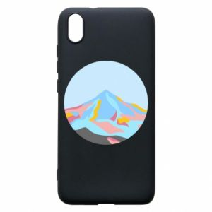 Phone case for Xiaomi Redmi 7A Mountains in a circle