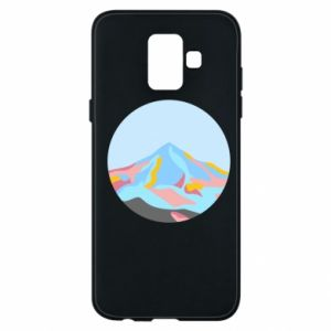 Phone case for Samsung A6 2018 Mountains in a circle
