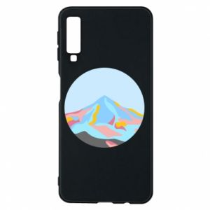 Phone case for Samsung A7 2018 Mountains in a circle