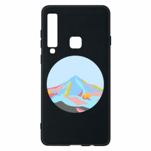 Phone case for Samsung A9 2018 Mountains in a circle