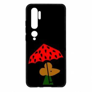 Xiaomi Mi Note 10 Case Mouse under umbrella