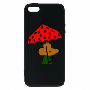 Etui na iPhone 5/5S/SE Mouse under umbrella
