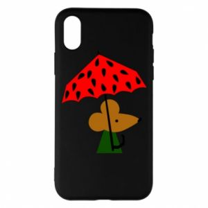 Etui na iPhone X/Xs Mouse under umbrella