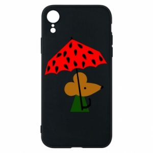 Etui na iPhone XR Mouse under umbrella