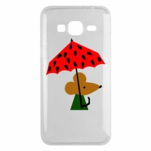 Etui na Samsung J3 2016 Mouse under umbrella