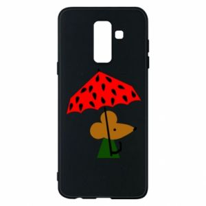 Etui na Samsung A6+ 2018 Mouse under umbrella