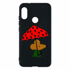 Etui na Mi A2 Lite Mouse under umbrella