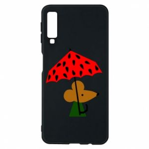Etui na Samsung A7 2018 Mouse under umbrella