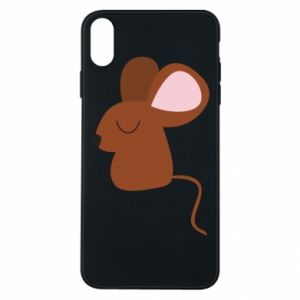 Phone case for iPhone Xs Max Mouse with eyes closed - PrintSalon