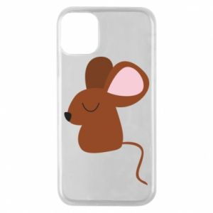 Phone case for iPhone 11 Pro Mouse with eyes closed - PrintSalon