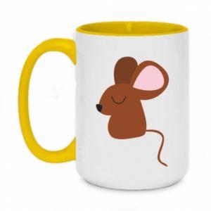 Kubek dwukolorowy 450ml Mouse with eyes closed