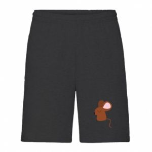 Men's shorts Mouse with eyes closed - PrintSalon