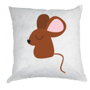 Pillow Mouse with eyes closed