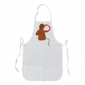 Apron Mouse with eyes closed