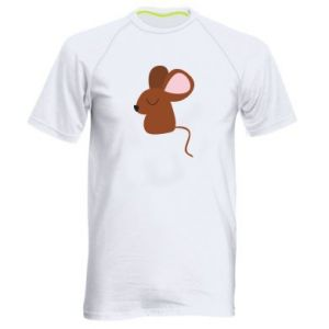 Men's sports t-shirt Mouse with eyes closed - PrintSalon