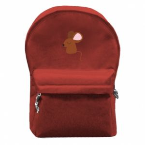 Backpack with front pocket Mouse with eyes closed - PrintSalon