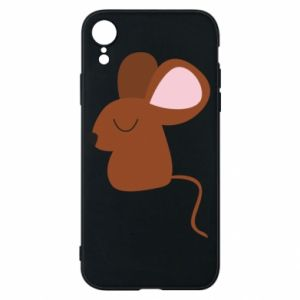 Phone case for iPhone XR Mouse with eyes closed