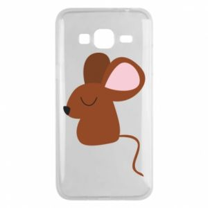 Phone case for Samsung J3 2016 Mouse with eyes closed - PrintSalon