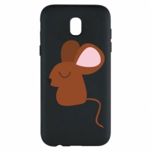 Phone case for Samsung J5 2017 Mouse with eyes closed - PrintSalon