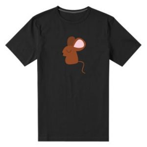 Men's premium t-shirt Mouse with eyes closed