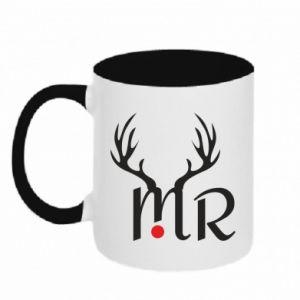Two-toned mug Mr deer