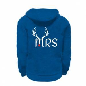 Kid's zipped hoodie % print% Mrs deer