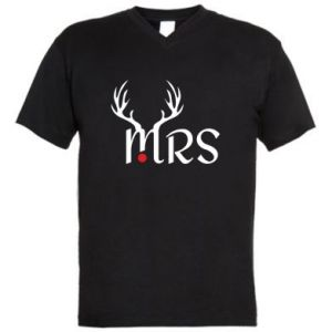 Men's V-neck t-shirt Mrs deer