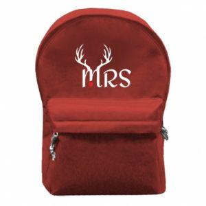 Backpack with front pocket Mrs deer