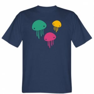T-shirt Multi-colored jellyfishes - PrintSalon