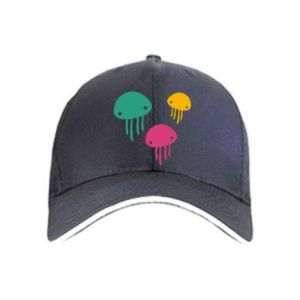 Cap Multi-colored jellyfishes - PrintSalon