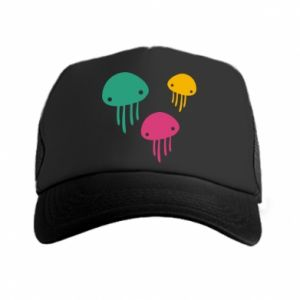 Trucker hat Multi-colored jellyfishes - PrintSalon