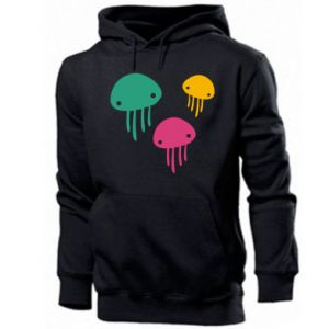 Men's hoodie Multi-colored jellyfishes - PrintSalon
