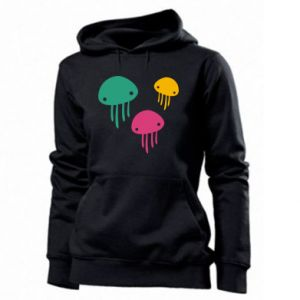 Women's hoodies Multi-colored jellyfishes - PrintSalon