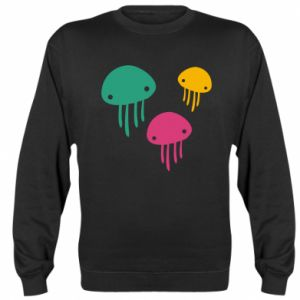Sweatshirt Multi-colored jellyfishes - PrintSalon