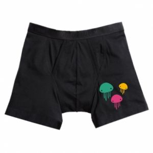 Boxer trunks Multi-colored jellyfishes - PrintSalon