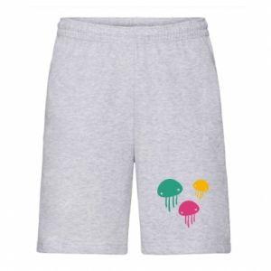 Men's shorts Multi-colored jellyfishes - PrintSalon