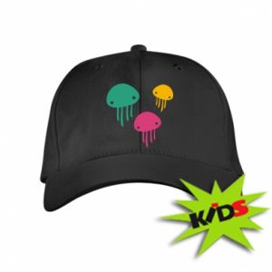 Kids' cap Multi-colored jellyfishes - PrintSalon
